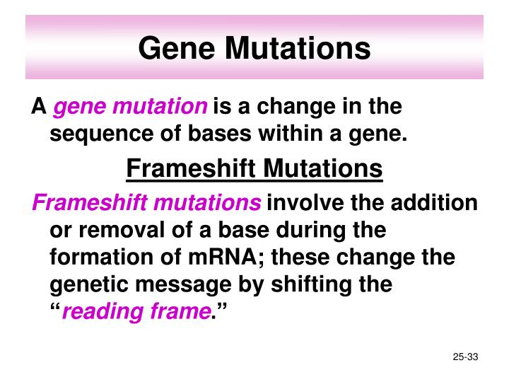 Gene Mutations