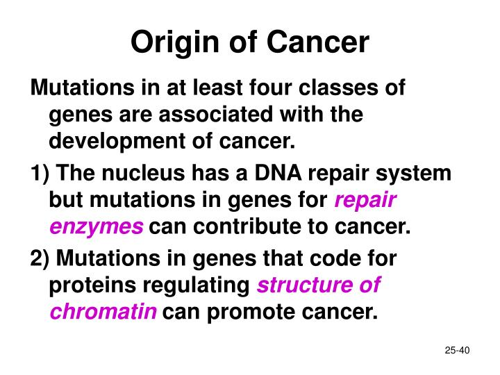 Origin of Cancer