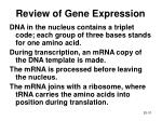 review of gene expression