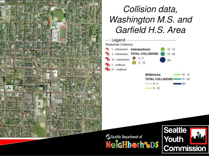 Collision data, Washington M.S. and Garfield H.S. Area
