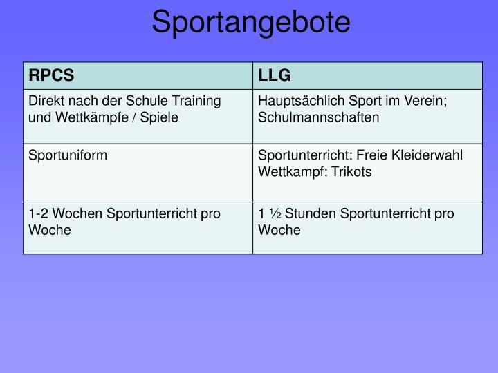 Sportangebote