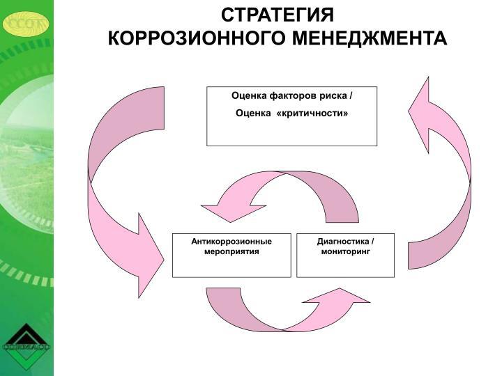 СТРАТЕГИЯ                                                     КОРРОЗИОННОГО МЕНЕДЖМЕНТА