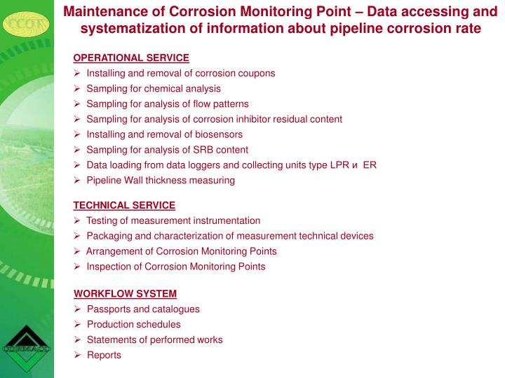 Maintenance of Corrosion Monitoring Point
