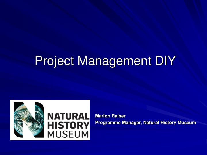 Project management diy