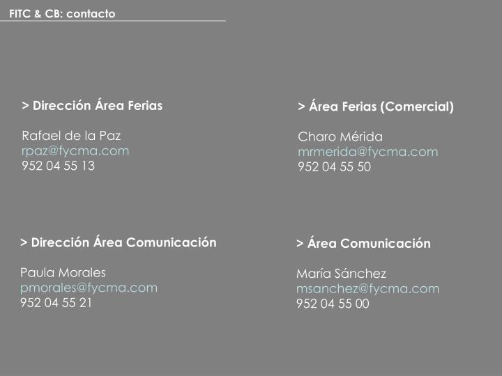 FITC & CB: contacto