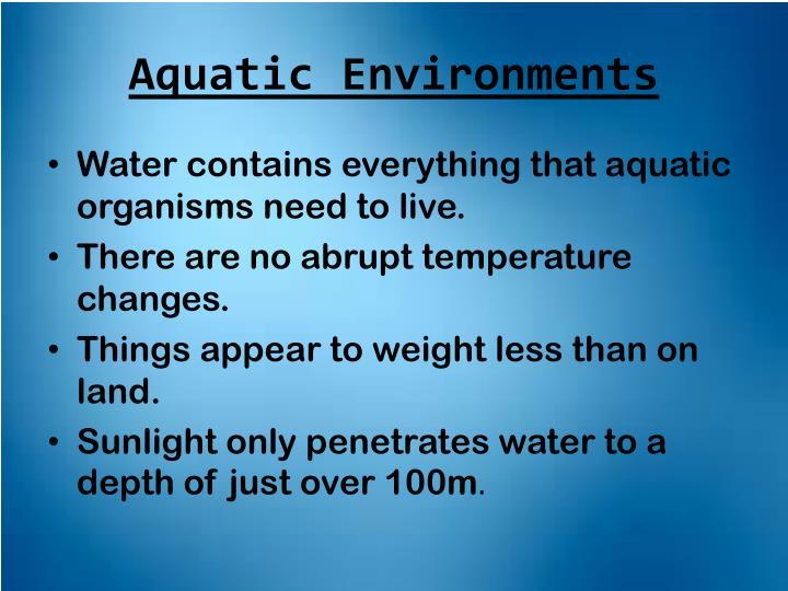 Aquatic Environments