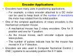 encoder applications