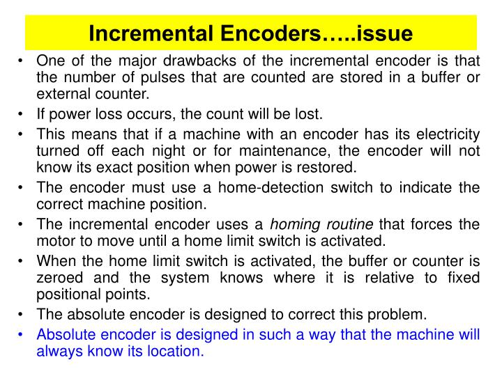 Incremental Encoders…..issue