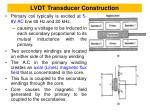 lvdt transducer construction