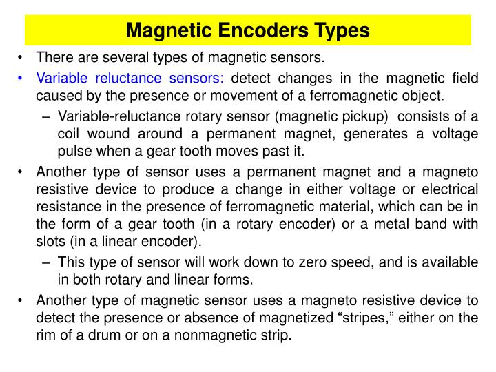 Magnetic Encoders Types