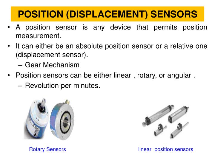 Position displacement sensors