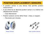 position displacement sensors