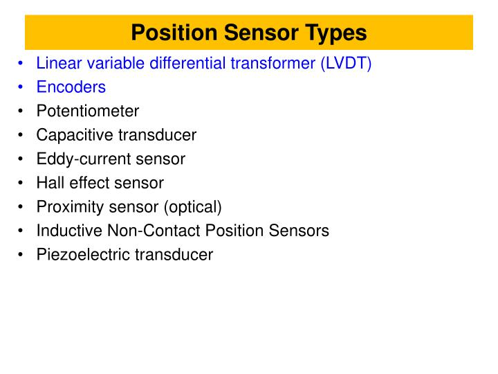Position Sensor Types