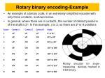rotary binary encoding example