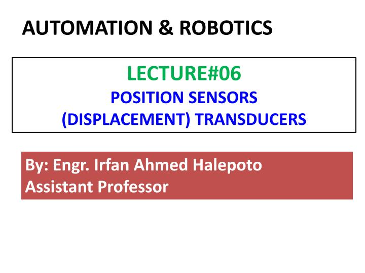 AUTOMATION & ROBOTICS