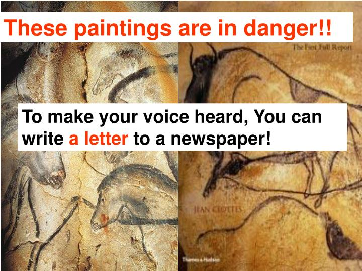 These paintings are in danger!!