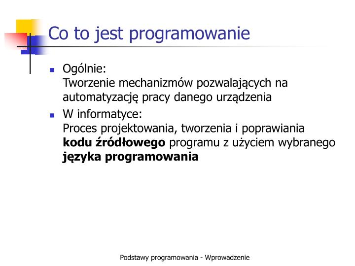 Co to jest programowanie