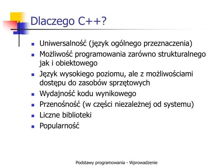 Dlaczego C++?