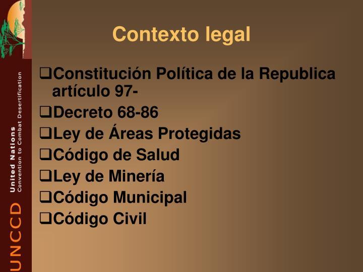 Contexto legal