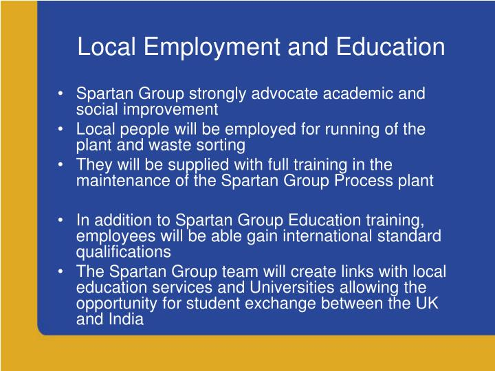 Local Employment and Education