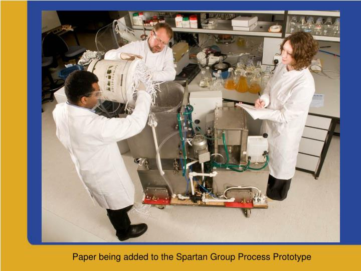 Paper being added to the Spartan Group Process Prototype