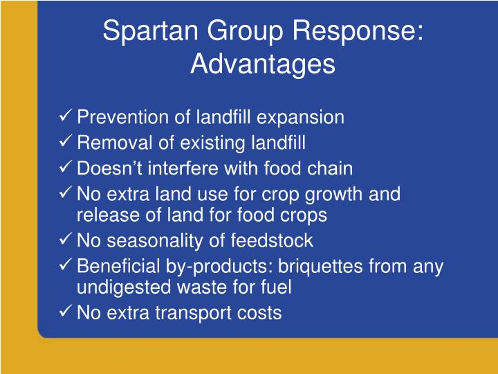 Spartan Group Response: