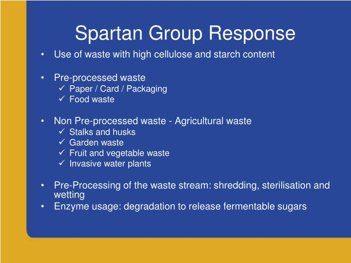 Spartan Group Response
