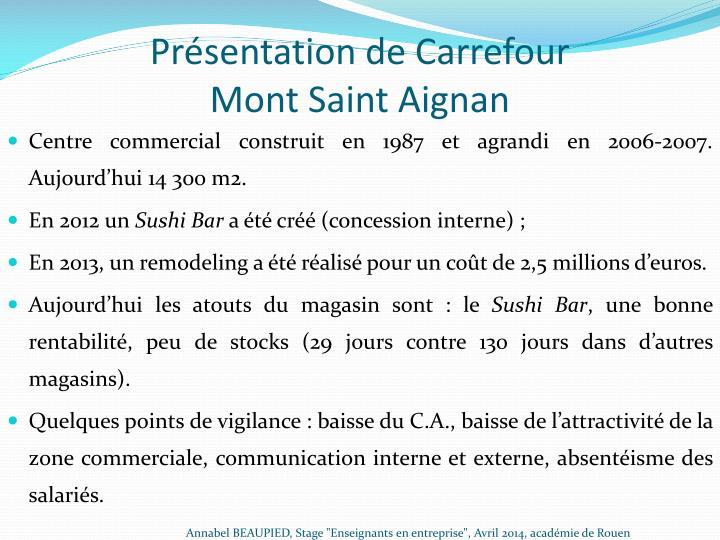 Présentation de Carrefour