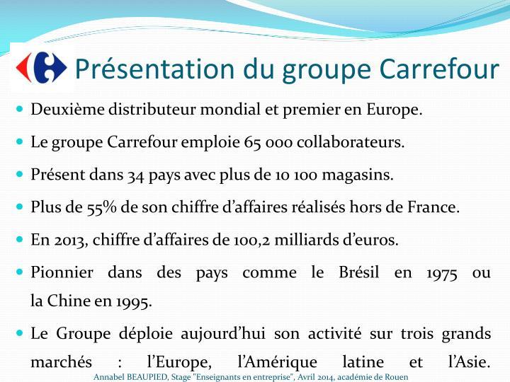 Présentation du groupe Carrefour