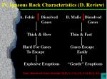 iv igneous rock characteristics d review1