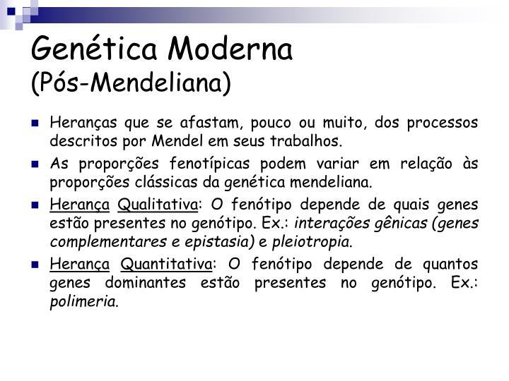 Genética Moderna