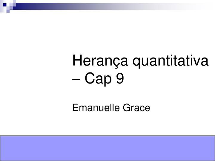 Herança quantitativa – Cap 9