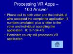 processing vr apps 100 answer