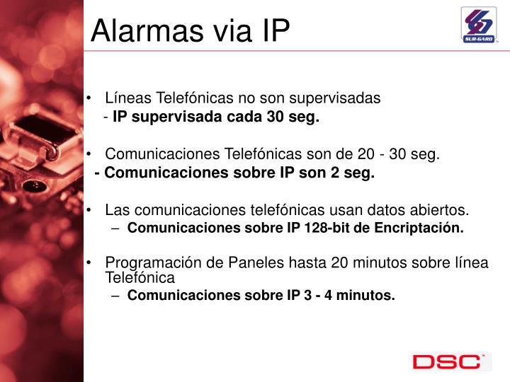 Alarmas via IP