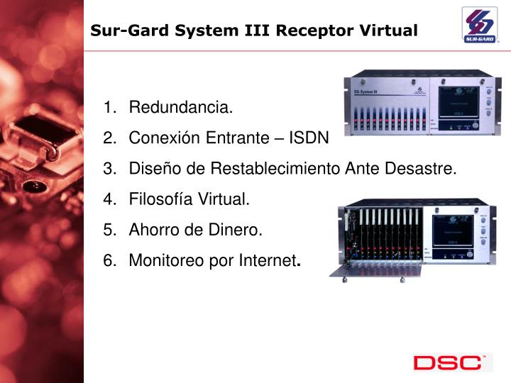 Sur-Gard System III Receptor Virtual