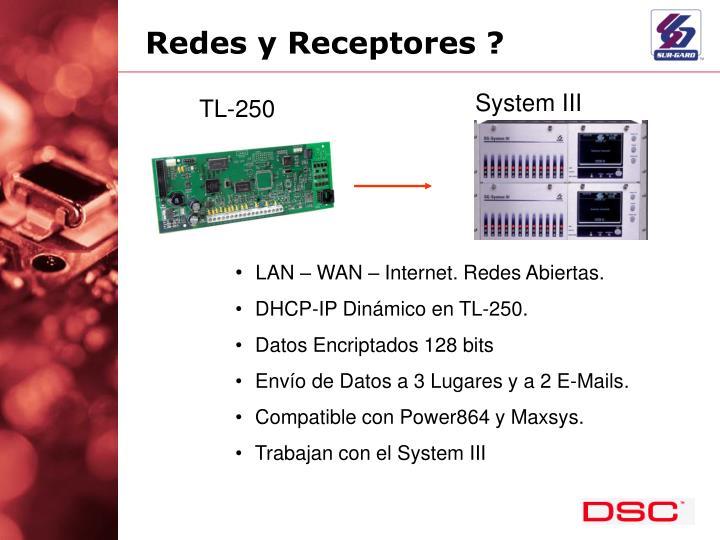 Redes y Receptores ?