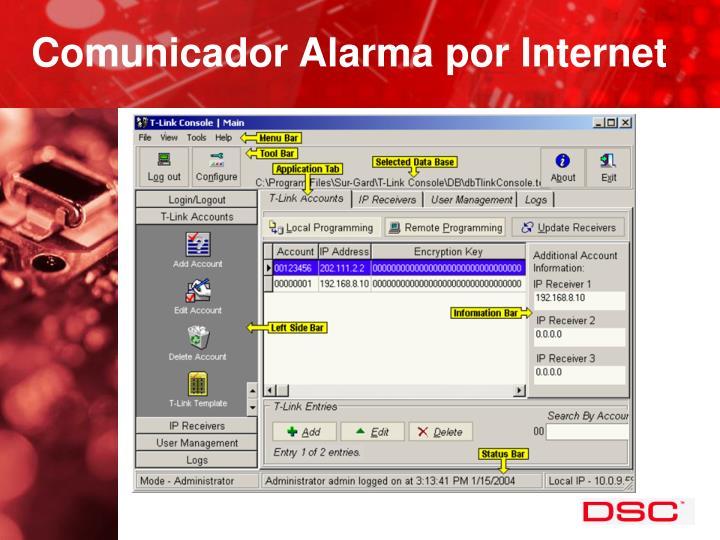 Comunicador Alarma por Internet