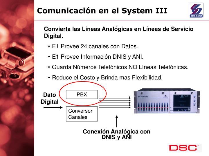 Comunicación en el System III