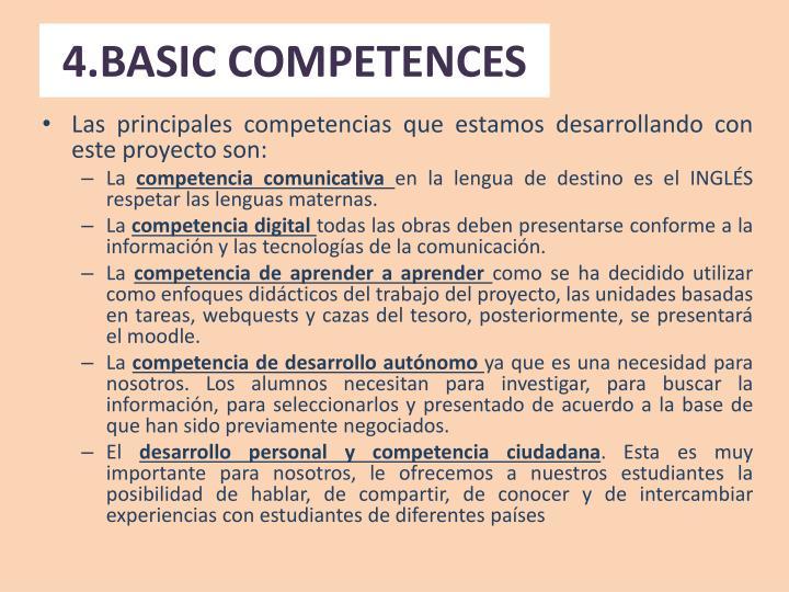 4.BASIC COMPETENCES