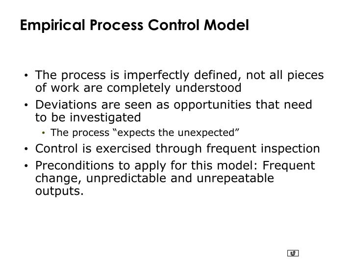 Empirical Process Control Model