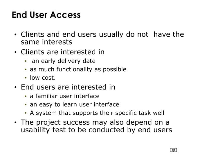End User Access