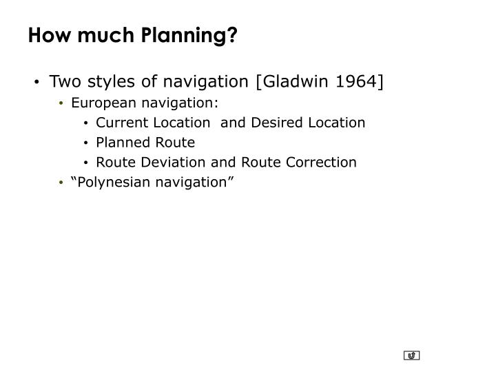 How much Planning?