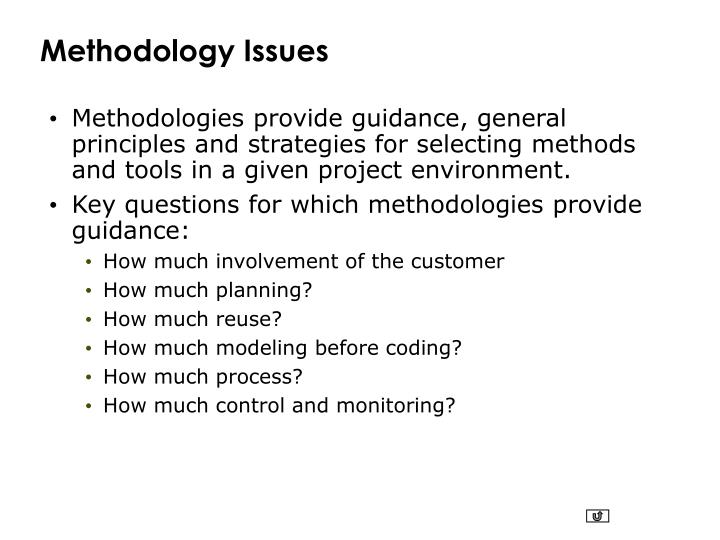 Methodology Issues