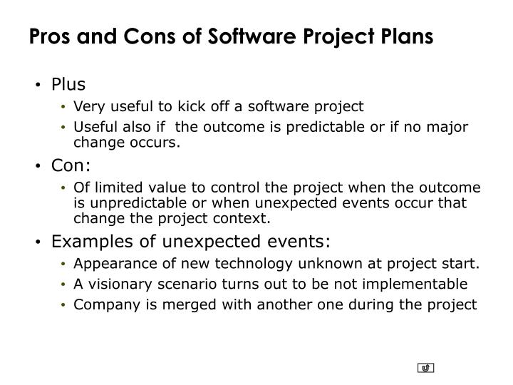 Pros and Cons of Software Project Plans