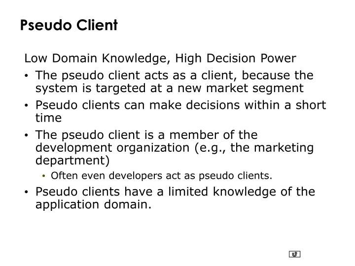 Pseudo Client