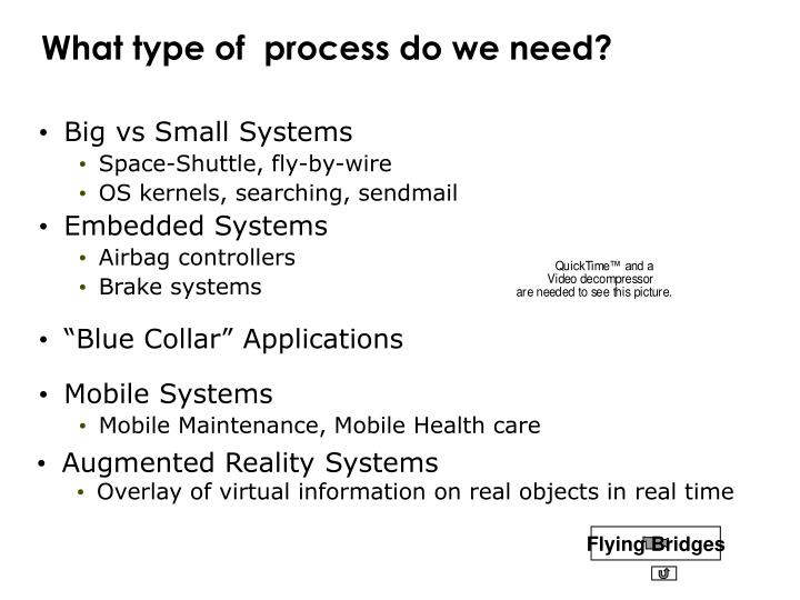 What type of  process do we need?