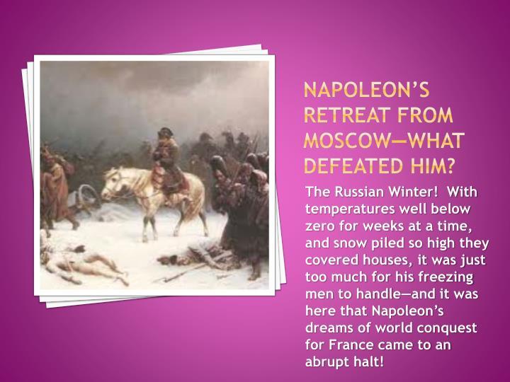 Napoleon's retreat from
