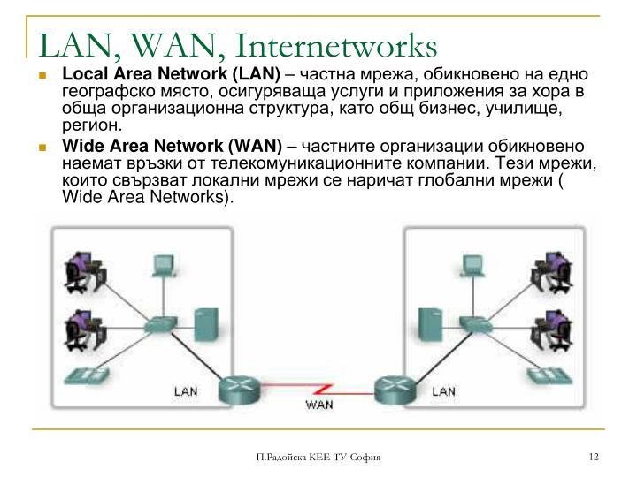 LAN, WAN, Internetworks