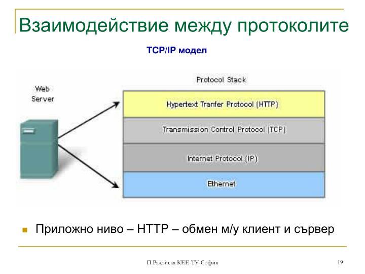 Взаимодействие между протоколите