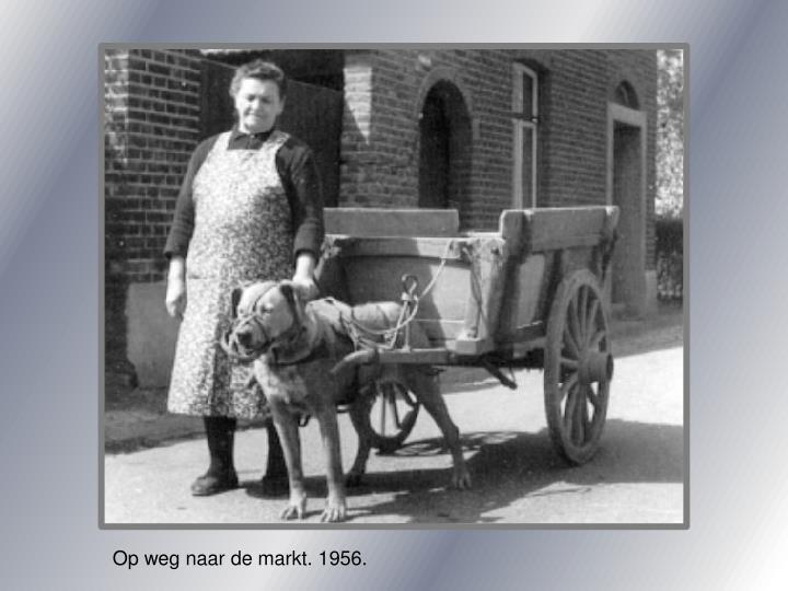 Op weg naar de markt. 1956.